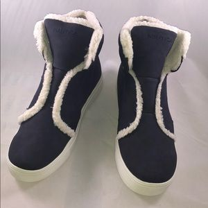 Nautica 8.5M Womens Faux Leather Athletic Booties